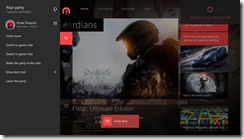 Xbox Dashboard of  Party Utilizing Cortana