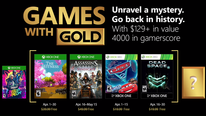 Xbox - April 2018 Games with Gold screenshot